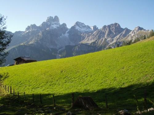 Foto: hofsab / Mountainbike Tour / Filmooser Almentour über Hofalmen und Sulzenalm (1612 m) / noch einmal der Gosaukamm / 26.08.2009 12:44:13