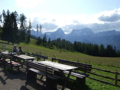 Foto: hofsab / Mountainbike Tour / Huttererböden (1404 m) von Hinterstoder über Steyerbergerreith / gemütliche Rast / 25.08.2009 13:07:10