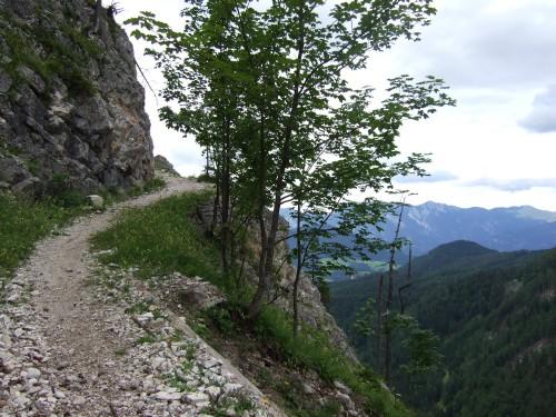 Foto: hofsab / Mountainbike Tour / Huttererböden (1404 m) von Hinterstoder über Steyerbergerreith / steile Felsabbrüche / 25.08.2009 13:10:21