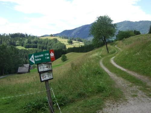 Foto: hofsab / Mountainbike Tour / Huttererböden (1404 m) von Hinterstoder über Steyerbergerreith / bei Abzweigung rechts / 25.08.2009 13:04:47