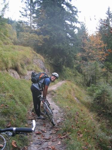 Foto: hofsab / Mountainbike Tour / Rund um und auf den Rauschberg (1645 m) / Wanderweg zum Taubensee / 26.08.2009 12:46:44