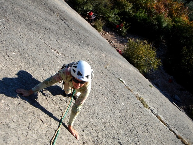Foto: Manfred Karl / Kletter Tour / Familienklettern am Monte Baone / Im ruhigeren linken Sektor, Via C.G. / 24.07.2009 23:42:43