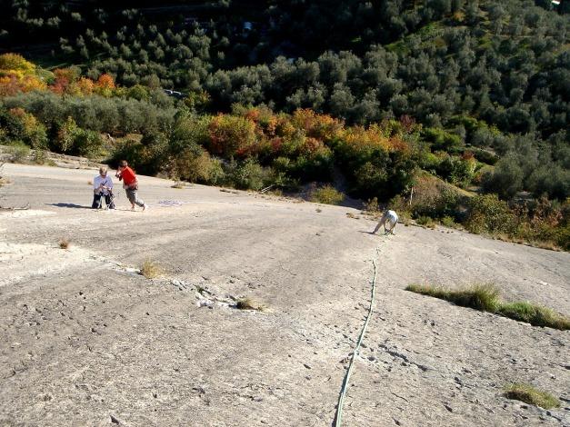 Foto: Manfred Karl / Kletter Tour / Familienklettern am Monte Baone / Via C.G., letzte SL / 24.07.2009 23:41:51