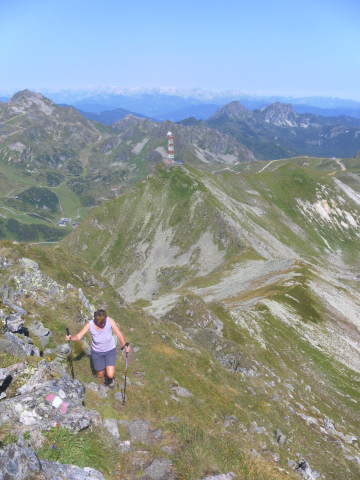 Foto: Wolfgang Lauschensky / Wander Tour / Gamskarlspitze (2411m) / am Nordgrat mit Blick zur Plattenspitze / 24.08.2012 19:17:40