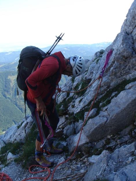 Foto: Manfred Karl / Kletter Tour / Brunnkogel Nordwestgrat / Einstieg / 31.07.2009 20:14:13