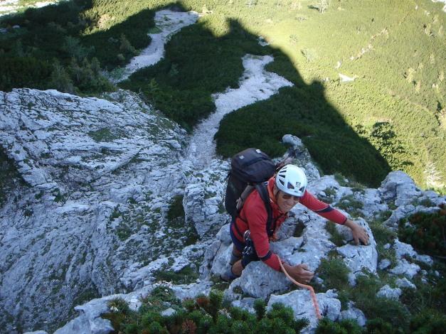 Foto: Manfred Karl / Kletter Tour / Brunnkogel Nordwestgrat / 3. SL / 31.07.2009 20:13:56