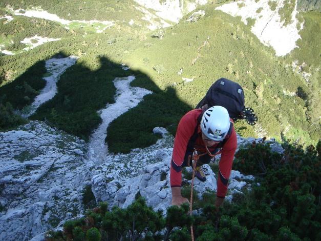 Foto: Manfred Karl / Kletter Tour / Brunnkogel Nordwestgrat / 3. SL / 31.07.2009 20:13:40