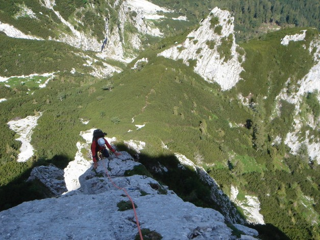 Foto: Manfred Karl / Kletter Tour / Brunnkogel Nordwestgrat / 4. SL / 31.07.2009 20:13:19