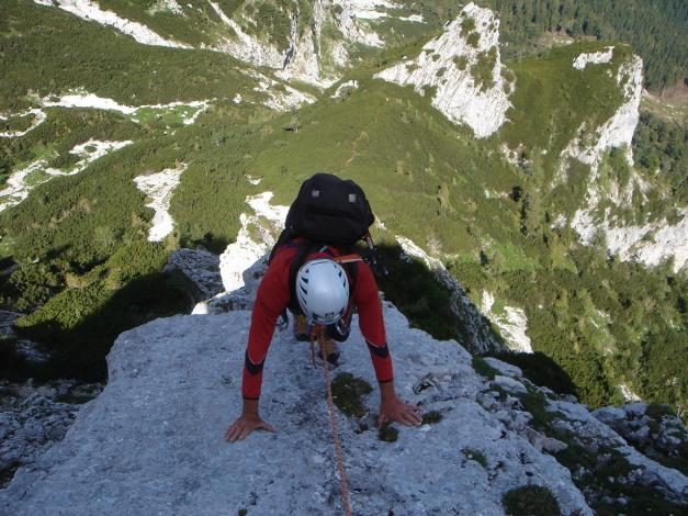 Foto: Manfred Karl / Kletter Tour / Brunnkogel Nordwestgrat / 4. SL / 31.07.2009 20:13:00
