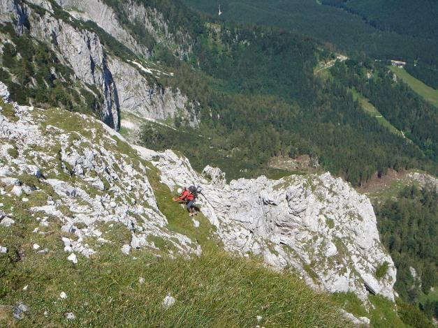 Foto: Manfred Karl / Kletter Tour / Brunnkogel Nordwestgrat / Letzte SL, der Ausstieg ist grasig / 31.07.2009 20:12:04