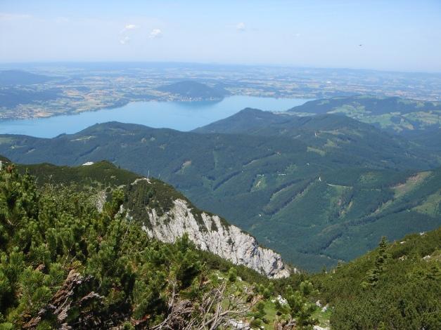 Foto: Manfred Karl / Kletter Tour / Brunnkogel Nordwestgrat / Attersee / 31.07.2009 20:08:39