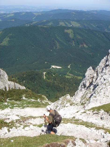 Foto: Manfred Karl / Kletter Tour / Brunnkogel Nordwestgrat / Abstieg Aurachkar / 31.07.2009 20:08:08