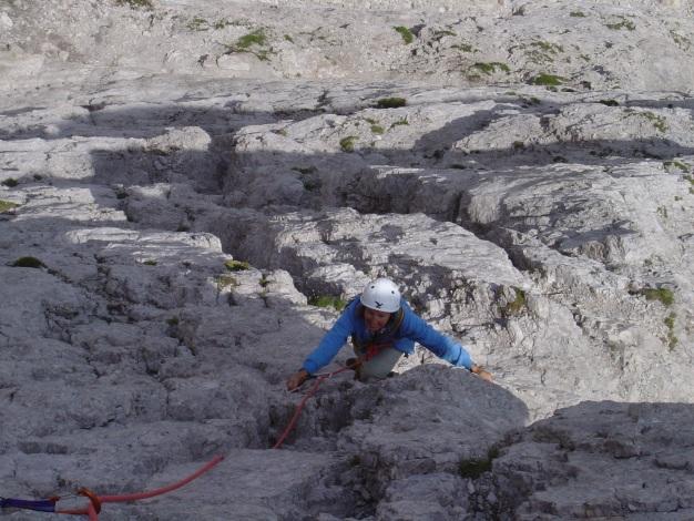 Foto: Manfred Karl / Kletter Tour / Kleine Gamswiesenspitze Nordostkante / Die ersten SL / 31.07.2009 20:38:51