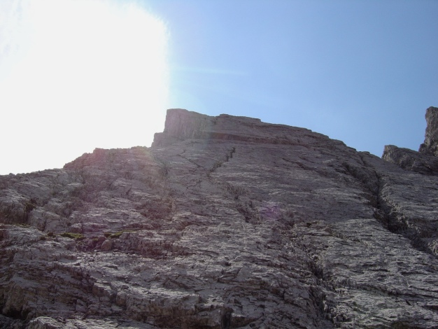 Foto: Manfred Karl / Kletter Tour / Kleine Gamswiesenspitze Nordostkante / Anfangs Wandkletterei, dann geht es direkt an der Kante entlang / 31.07.2009 20:38:33