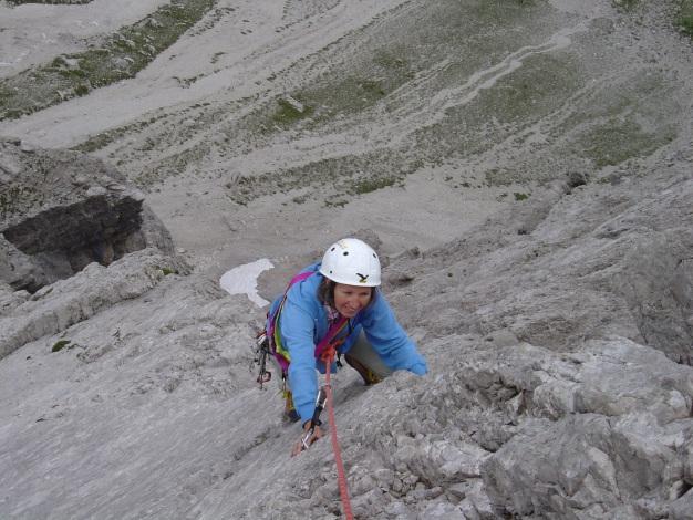Foto: Manfred Karl / Kletter Tour / Kleine Gamswiesenspitze Nordostkante / An der luftigen Kante / 31.07.2009 20:37:41