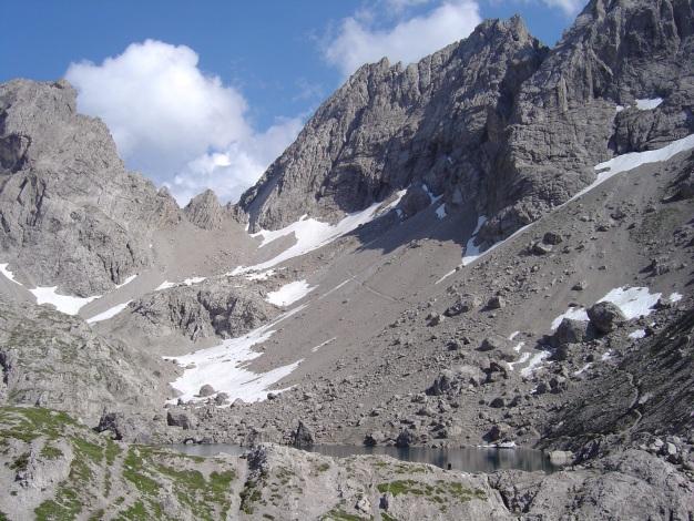 Foto: Manfred Karl / Kletter Tour / Kleine Gamswiesenspitze Nordostkante / Laserz / 31.07.2009 20:35:21
