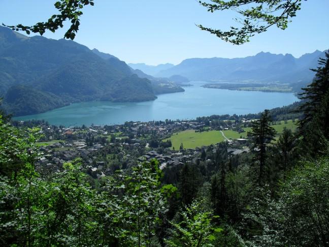 Foto: Andreas Maltan / Rad Tour / Berchtesgaden Mozartblick / Blick vom Mozartblick auf den Wolfgangsee / 01.08.2009 21:26:18