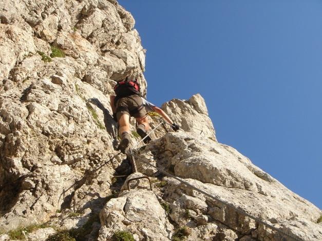 Foto: Manfred Karl / Klettersteig Tour / Schermberg, Tassilo Klettersteig / Vor der ersten C-Stelle / 02.08.2009 21:02:28