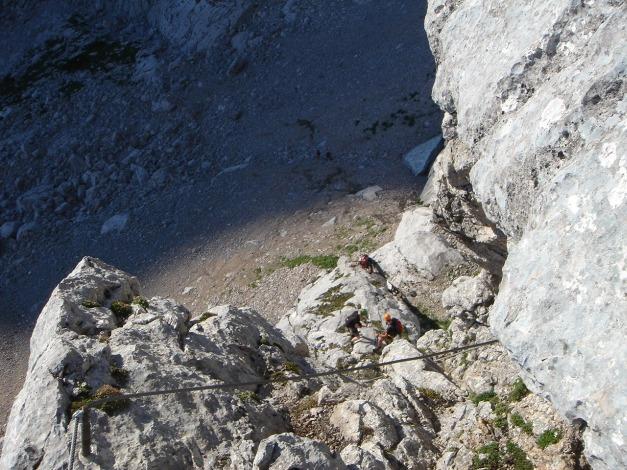 Foto: Manfred Karl / Klettersteig Tour / Schermberg, Tassilo Klettersteig / Einstiegsrampe / 02.08.2009 21:02:10