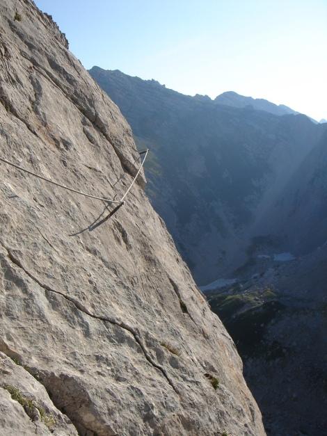 Foto: Manfred Karl / Klettersteig Tour / Schermberg, Tassilo Klettersteig / Nach dem Eck-Wandl / 02.08.2009 21:01:28