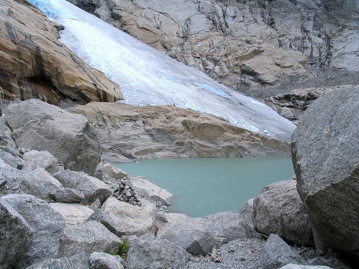 Foto: Andreas Koller / Wander Tour / Gletschererlebnis Briksdalsbreen (150 m) / 04.08.2009 19:15:49