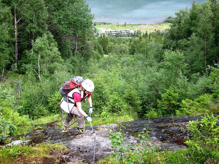Foto: Andreas Koller / Klettersteig Tour / Klettersteig Lomseggen (1524m) / 05.08.2009 17:03:45
