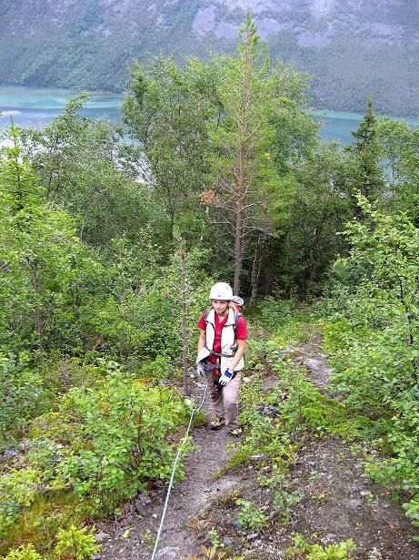 Foto: Andreas Koller / Klettersteig Tour / Klettersteig Lomseggen (1524m) / 05.08.2009 17:03:27