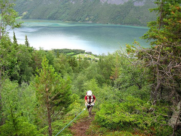 Foto: Andreas Koller / Klettersteig Tour / Klettersteig Lomseggen (1524m) / 05.08.2009 17:03:03