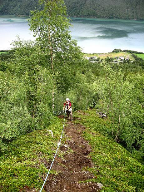 Foto: Andreas Koller / Klettersteig Tour / Klettersteig Lomseggen (1524m) / 05.08.2009 17:01:21