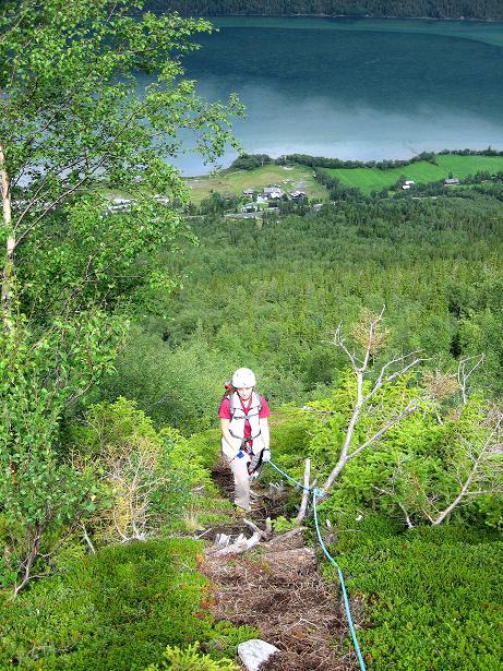 Foto: Andreas Koller / Klettersteig Tour / Klettersteig Lomseggen (1524m) / 05.08.2009 17:00:47