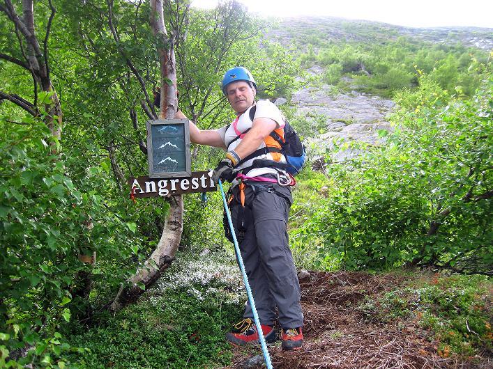 Foto: Andreas Koller / Klettersteig Tour / Klettersteig Lomseggen (1524m) / Jetzt geht's erst richtig los! / 05.08.2009 16:59:13