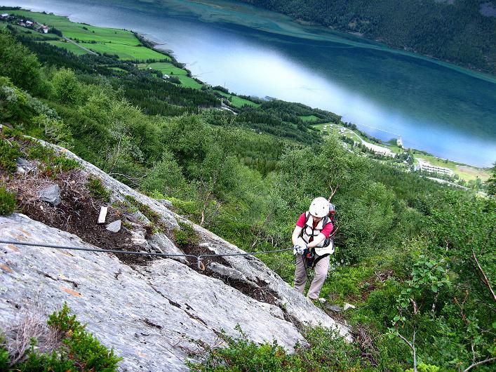 Foto: Andreas Koller / Klettersteig Tour / Klettersteig Lomseggen (1524m) / 05.08.2009 16:58:44