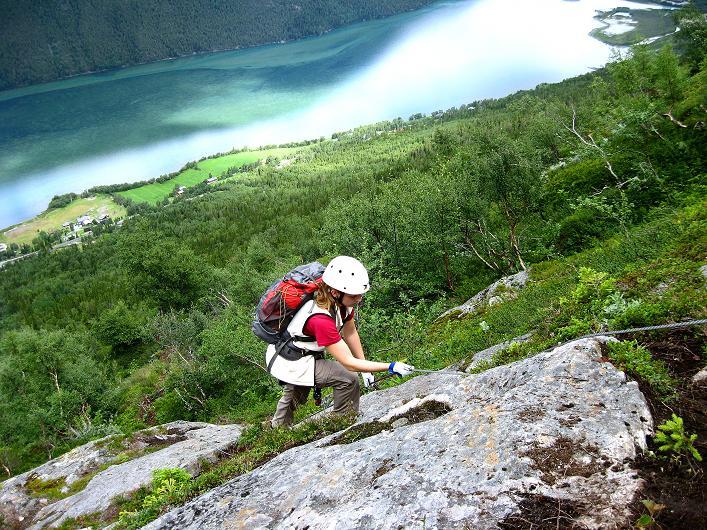 Foto: Andreas Koller / Klettersteig Tour / Klettersteig Lomseggen (1524m) / 05.08.2009 16:58:20