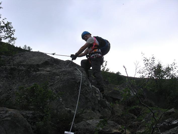 Foto: Andreas Koller / Klettersteig Tour / Klettersteig Lomseggen (1524m) / 05.08.2009 16:57:17