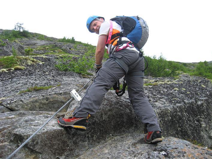 Foto: Andreas Koller / Klettersteig Tour / Klettersteig Lomseggen (1524m) / 05.08.2009 16:55:36