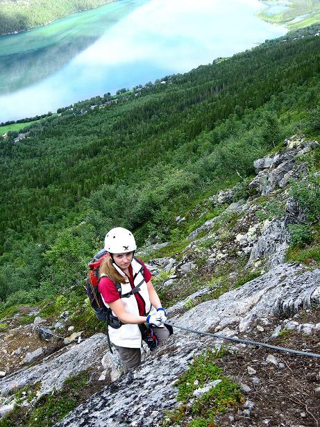 Foto: Andreas Koller / Klettersteig Tour / Klettersteig Lomseggen (1524m) / 05.08.2009 16:55:28