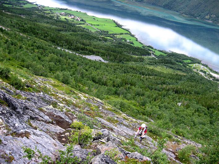 Foto: Andreas Koller / Klettersteig Tour / Klettersteig Lomseggen (1524m) / 05.08.2009 16:55:20