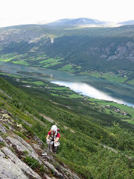 Foto: Andreas Koller / Klettersteig Tour / Klettersteig Lomseggen (1524m) / 05.08.2009 16:54:22