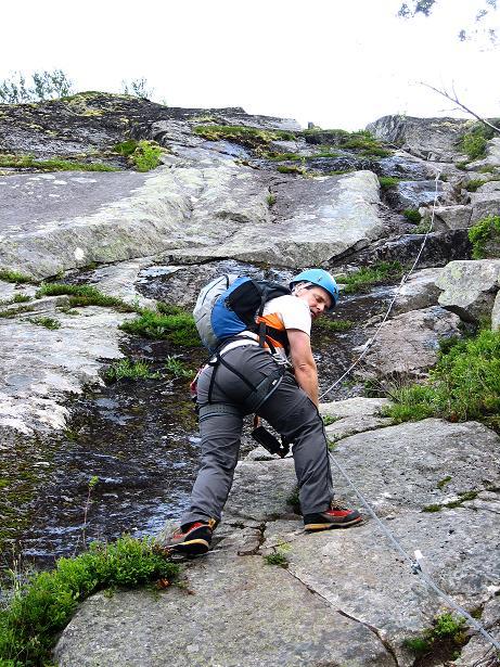 Foto: Andreas Koller / Klettersteig Tour / Klettersteig Lomseggen (1524m) / 05.08.2009 16:54:14