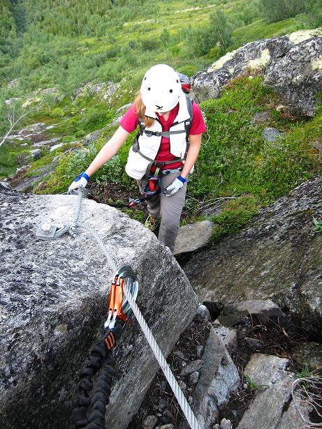 Foto: Andreas Koller / Klettersteig Tour / Klettersteig Lomseggen (1524m) / 05.08.2009 16:54:06