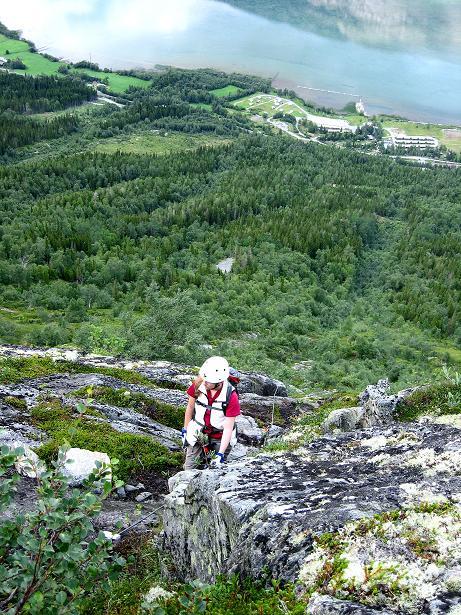 Foto: Andreas Koller / Klettersteig Tour / Klettersteig Lomseggen (1524m) / 05.08.2009 16:53:57