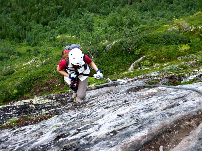 Foto: Andreas Koller / Klettersteig Tour / Klettersteig Lomseggen (1524m) / 05.08.2009 16:53:15