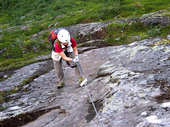 Foto: Andreas Koller / Klettersteig Tour / Klettersteig Lomseggen (1524m) / 05.08.2009 16:53:04