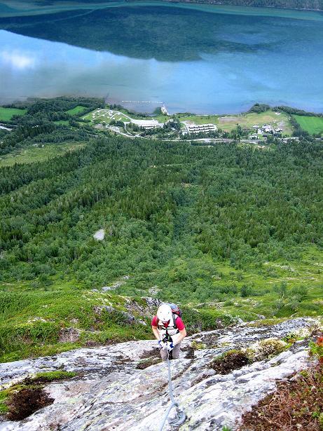 Foto: Andreas Koller / Klettersteig Tour / Klettersteig Lomseggen (1524m) / 05.08.2009 16:52:53