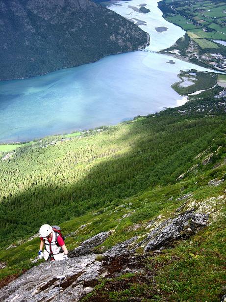 Foto: Andreas Koller / Klettersteig Tour / Klettersteig Lomseggen (1524m) / 05.08.2009 16:52:37