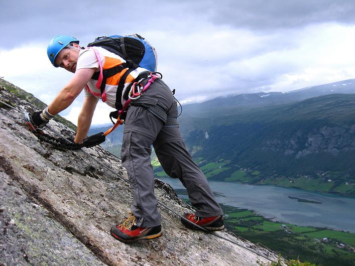 Foto: Andreas Koller / Klettersteig Tour / Klettersteig Lomseggen (1524m) / 05.08.2009 16:52:29