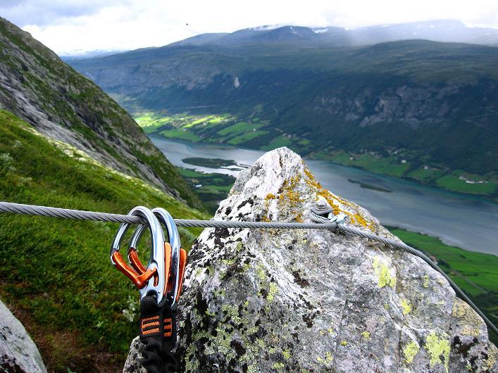 Foto: Andreas Koller / Klettersteig Tour / Klettersteig Lomseggen (1524m) / 05.08.2009 16:52:19