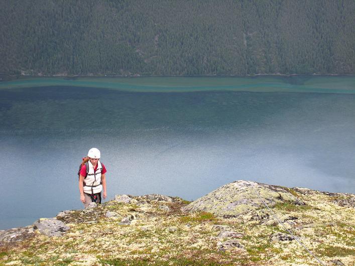 Foto: Andreas Koller / Klettersteig Tour / Klettersteig Lomseggen (1524m) / Noch nicht ganz der Ausstieg! / 05.08.2009 16:51:53