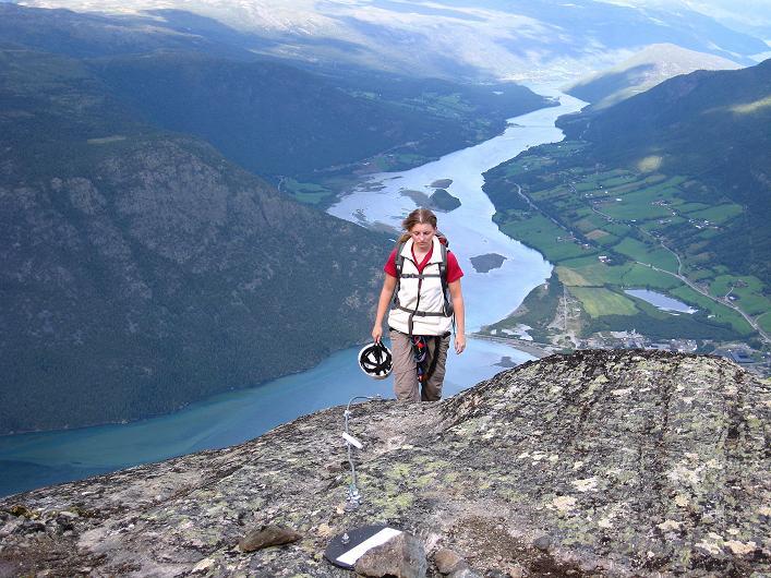 Foto: Andreas Koller / Klettersteig Tour / Klettersteig Lomseggen (1524m) / Das ist endlich der Ausstieg! / 05.08.2009 16:51:16