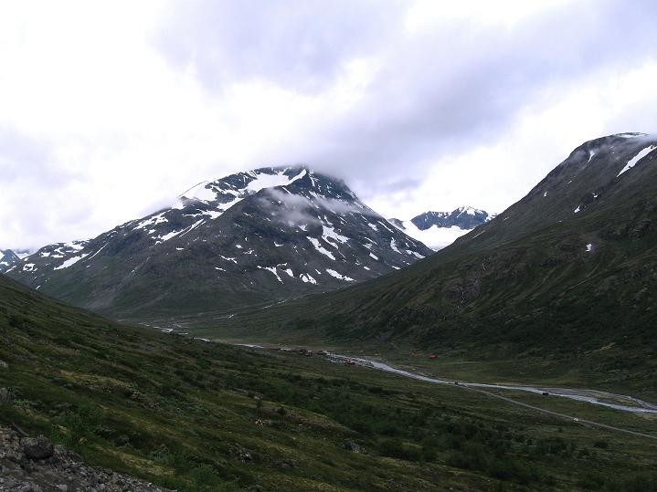 Foto: Andreas Koller / Wander Tour / Von Spiterstulen auf den Glittertind (2465 m) / Blick zurück nach Spiterstulen / 05.08.2009 19:03:57